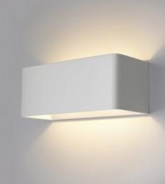 Applique LED 10W alluminio bianco.