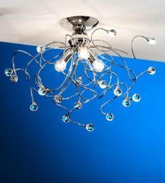 Plafoniera 3 luci Cristallo