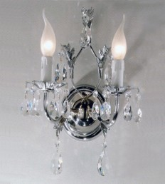 Applique 2 luci Cristallo Cromo.