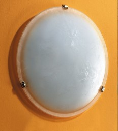 Plafoniera DM.40 marmorizzata.