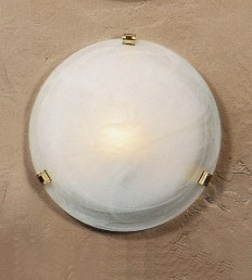 Plafoniera DM.50 Alabastro Bianco