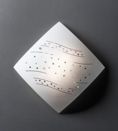 Plafoniera in cristallo 40x40