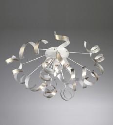 Plafoniera 5 luci Ricciolo Oro