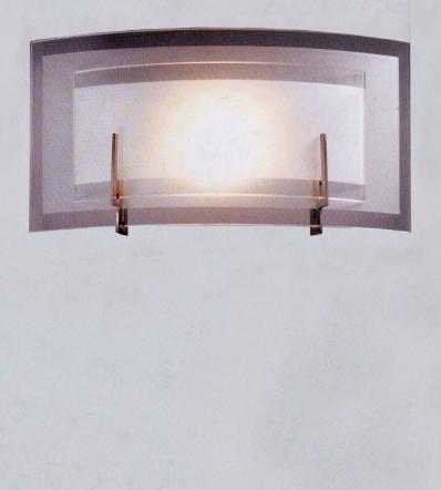Applique con doppio vetro in satinato